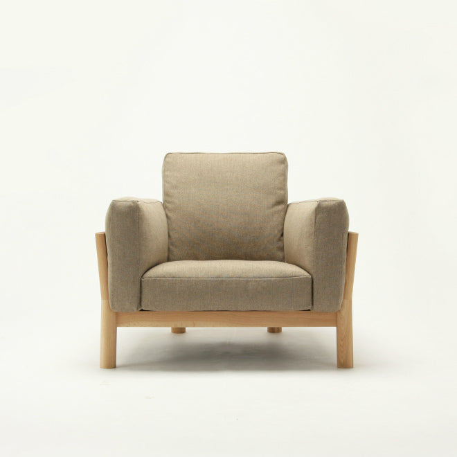 CASTOR SOFA SINGLE SEATER oak