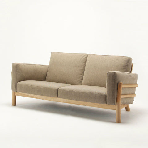 CASTOR SOFA TWO SEATER oak