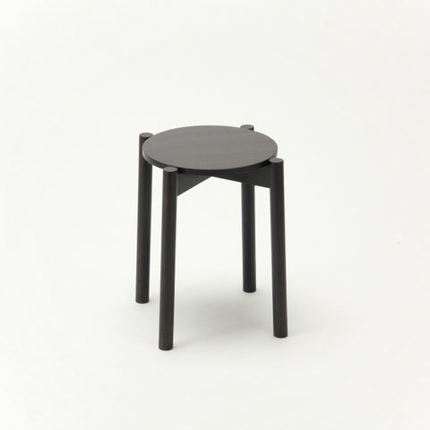Karimoku New Standard - CASTOR STOOL PLUS black