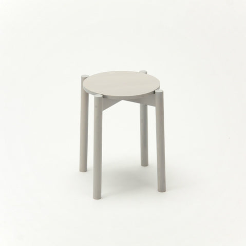 Karimoku New Standard - CASTOR STOOL PLUS grey