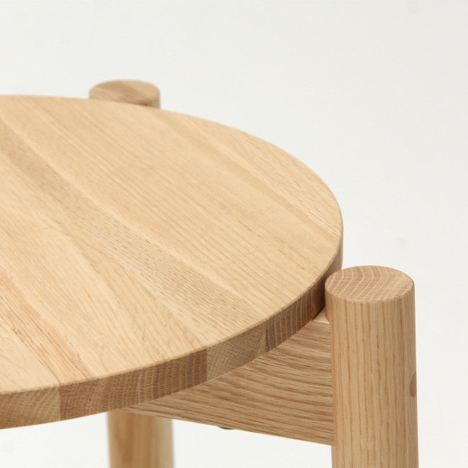 Karimoku New Standard - CASTOR STOOL PLUS oak - Stool