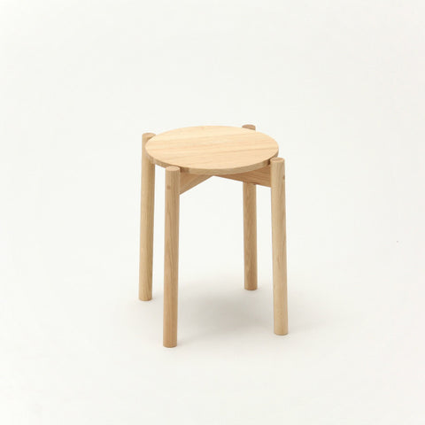 Karimoku New Standard - CASTOR STOOL PLUS oak