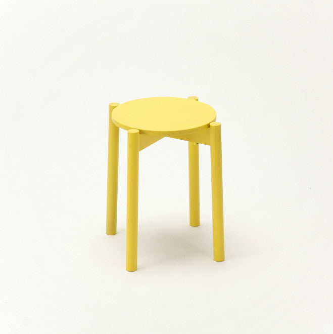 Karimoku New Standard - CASTOR STOOL PLUS yellow
