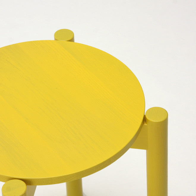 Karimoku New Standard - CASTOR STOOL PLUS yellow - Stool