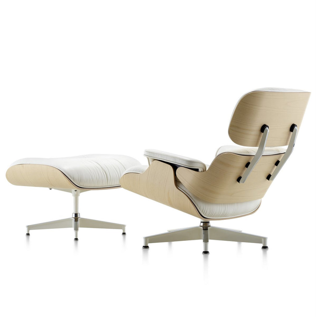 Herman Miller - Eames Lounge Chair and Ottoman White Ash - Armchair
