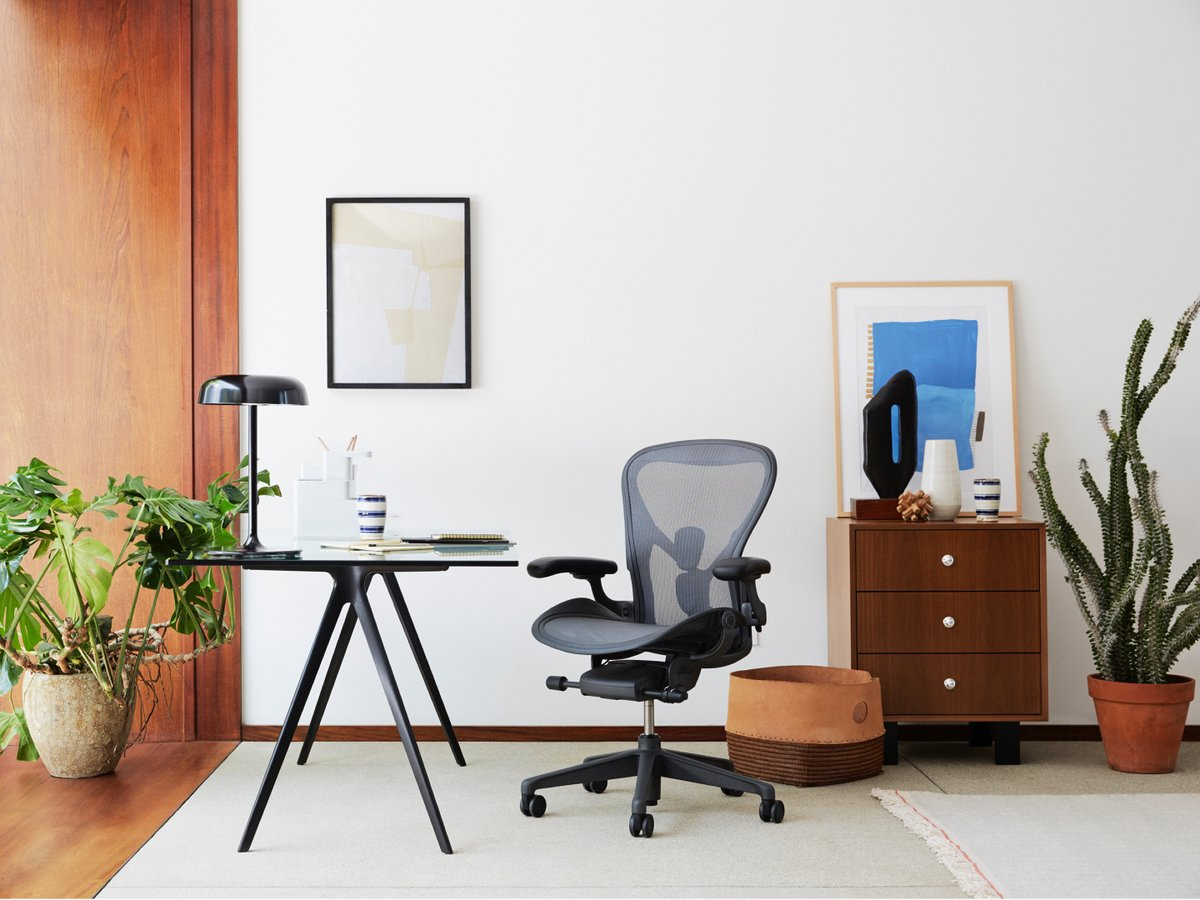 Herman Miller - New Aeron Chair Carbon in Size C - Task Chair