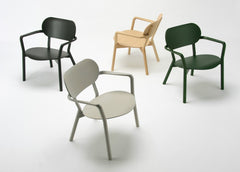CASTOR LOW CHAIR green