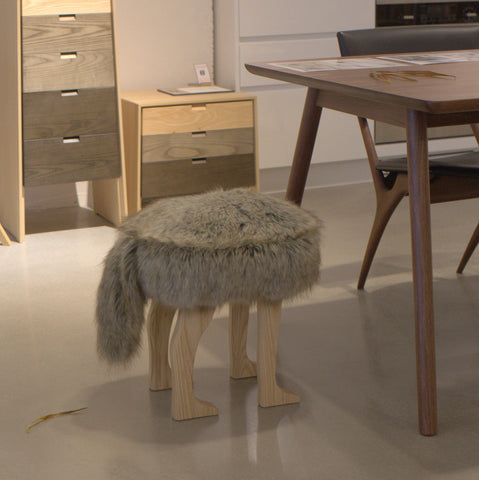 SECOND LIFE_Animal Stool_Coyote Brown L