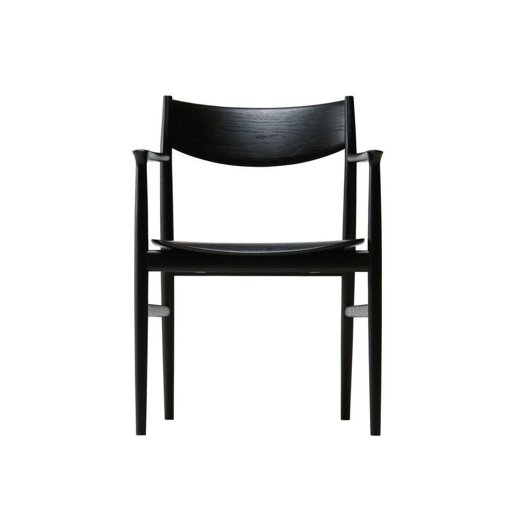 KAMUY Dining Armchair Wooden Seat - Dining Chair - Conde House
