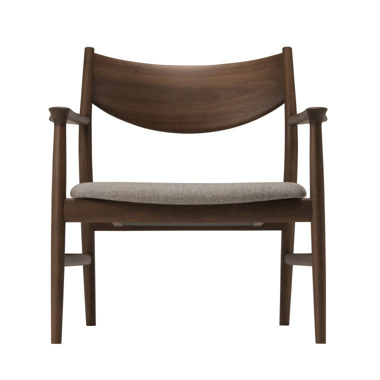 KAMUY Lounge Chair Wooden Back - Armchair - Conde House