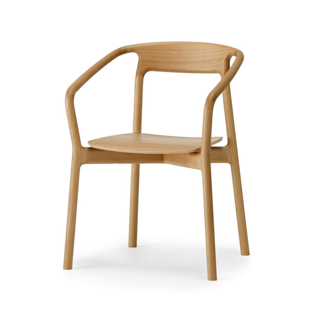 Conde House - KORENTO Arm Chair Wooden Seat - Dining Chair