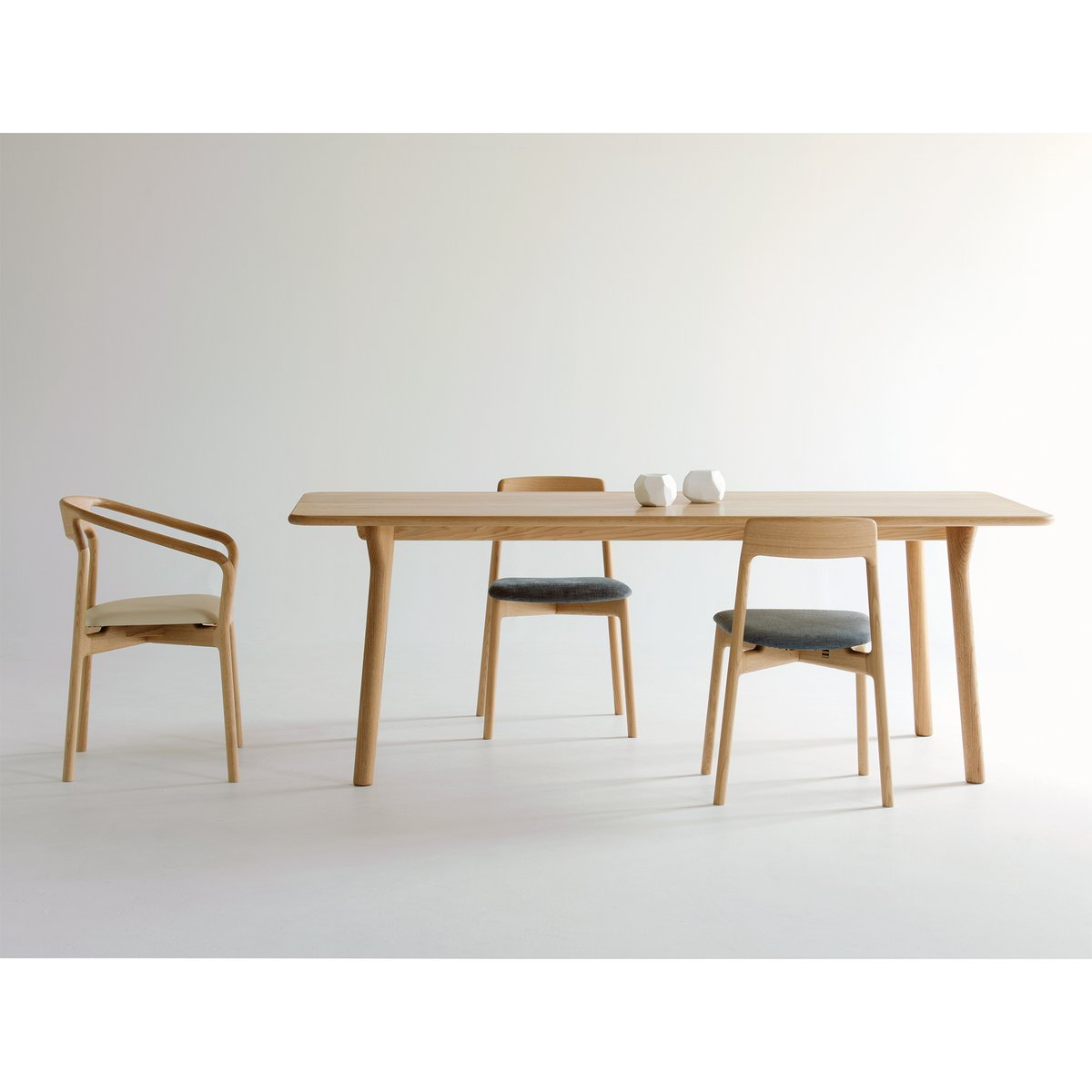 KORENTO Side Chair Wooden Seat