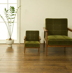 Karimoku60 - k chair mini moquette green - Armchair