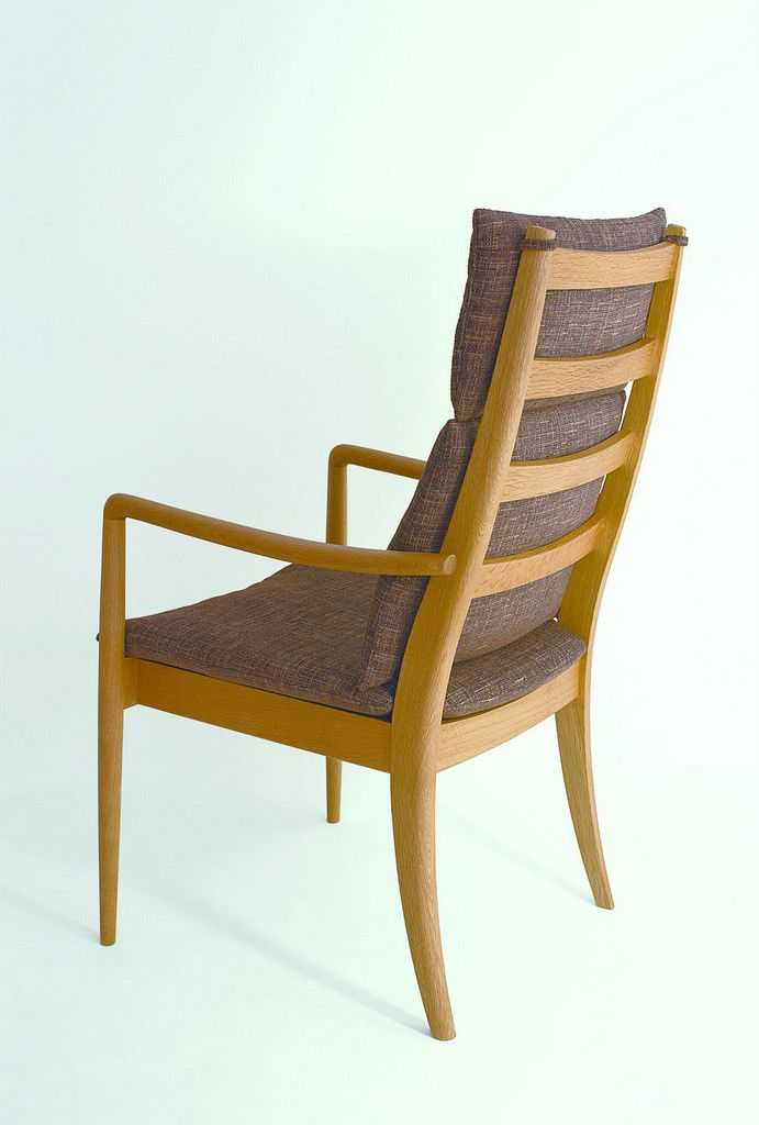 VIOLA armchair high Oak