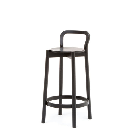 Karimoku New Standard - CASTOR BACKREST BAR STOOL LOW black
