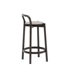 Karimoku New Standard - CASTOR BACKREST BAR STOOL LOW black - Stool