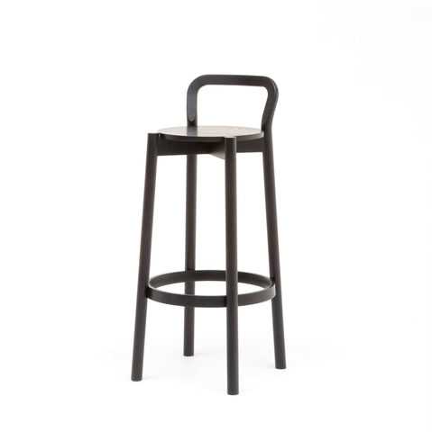 Karimoku New Standard - CASTOR BACKREST BAR STOOL HIGH black