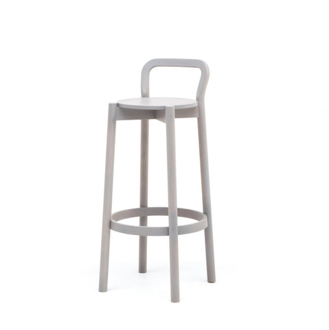 Karimoku New Standard - CASTOR BACKREST BAR STOOL HIGH grey