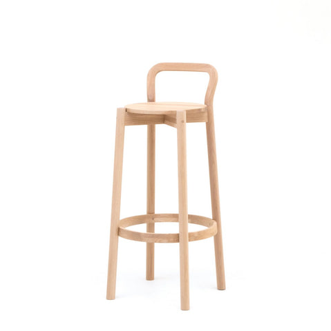 Karimoku New Standard - CASTOR BACKREST BAR STOOL HIGH oak
