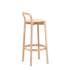 Karimoku New Standard - CASTOR BACKREST BAR STOOL HIGH oak - Stool