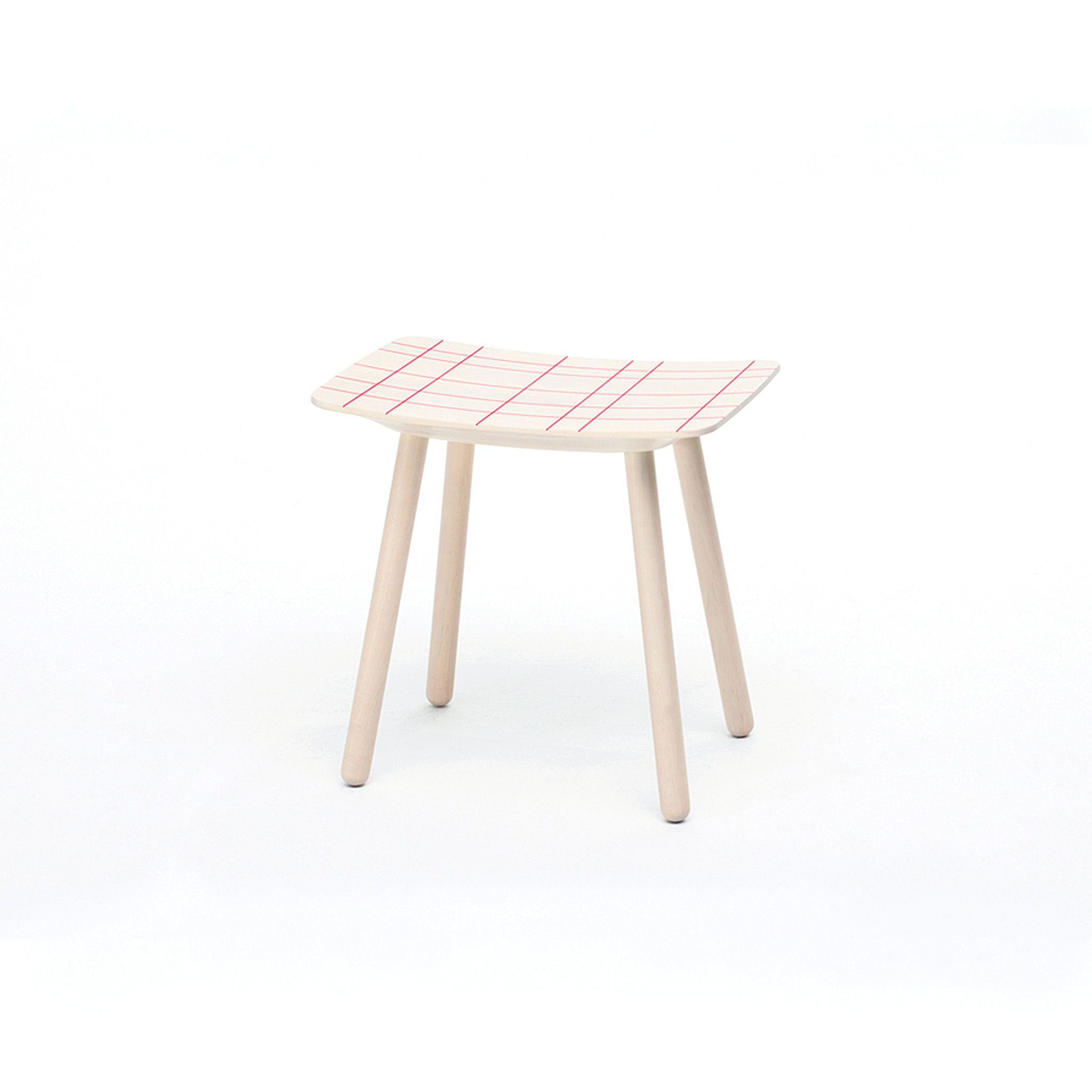 Karimoku New Standard - COLOR STOOL PINK GRID - Stool