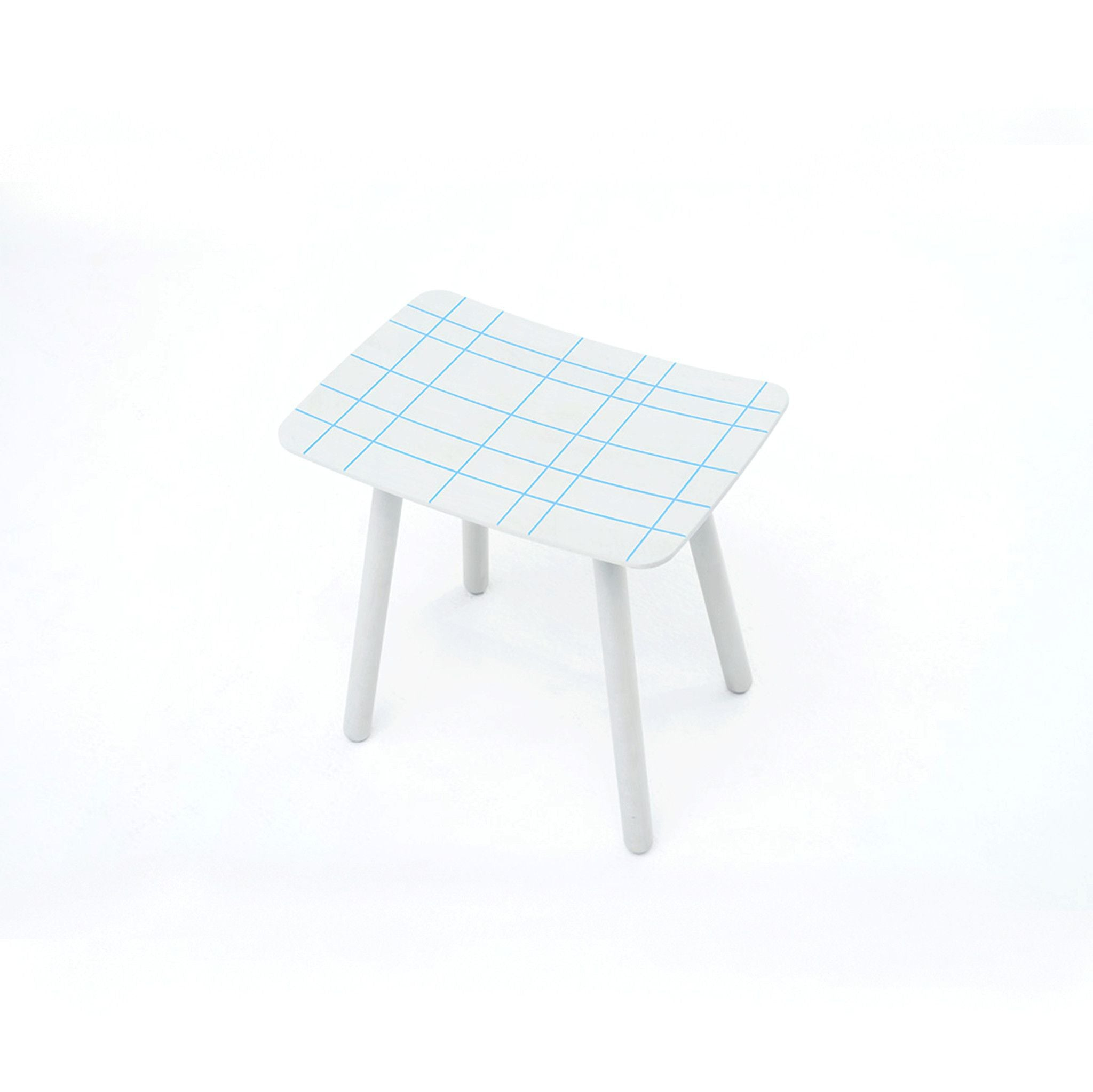 Karimoku New Standard - COLOR STOOL BLUE GRID