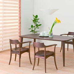 HIDA - CRESCENT Arm Chair Walnut - Dining Chair