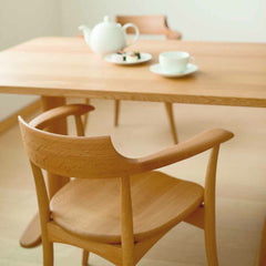 CRESCENT Arm Chair Oak - Dining Chair - HIDA