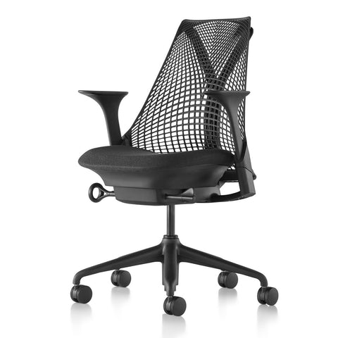 Sayl Chair Black Base with Black Y-Tower
