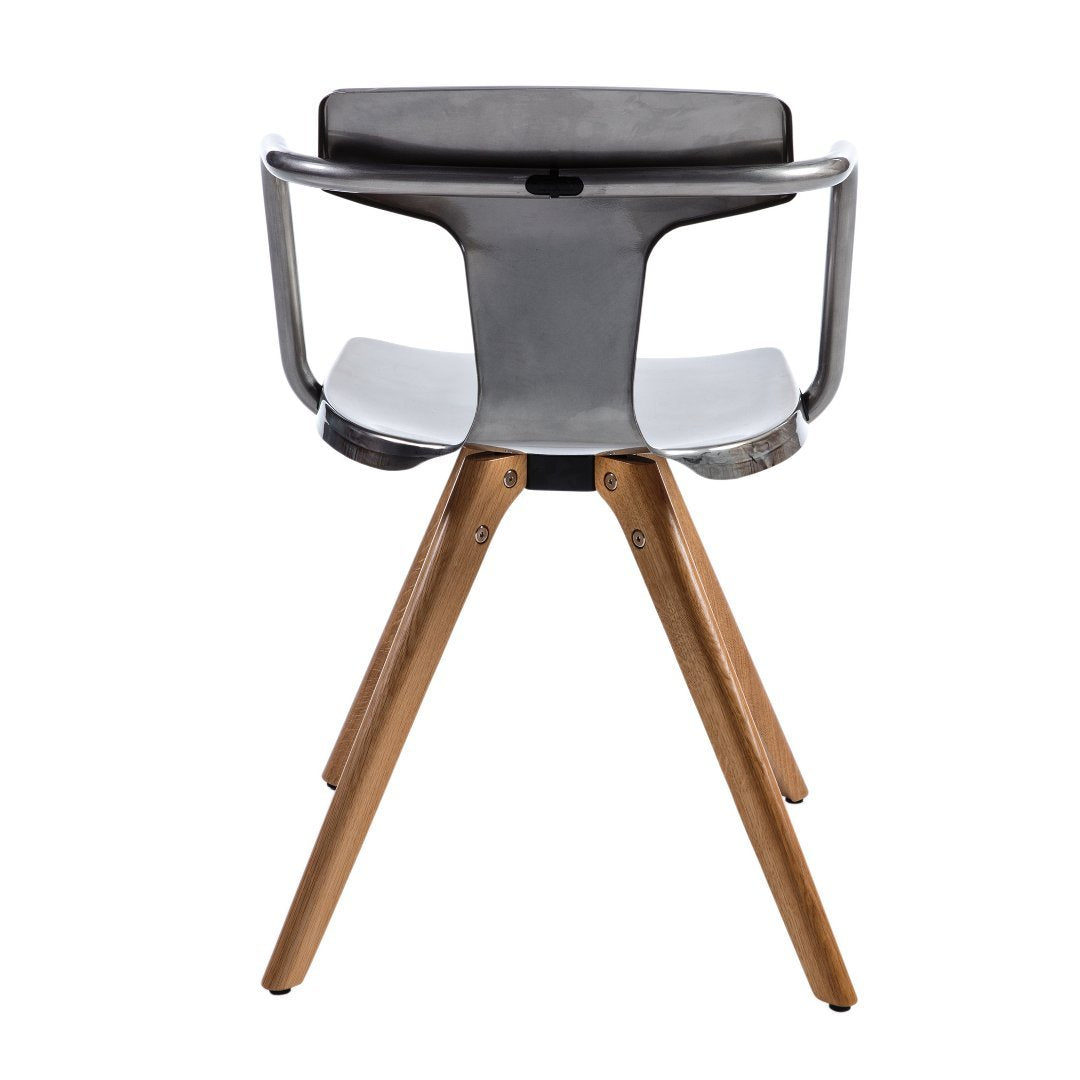 T14 Wooden Chair stainless steel - Dining-Chair - TOLIX