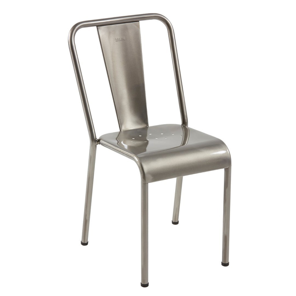 TOLIX - T37 Chair stainless steel - Dining Chair