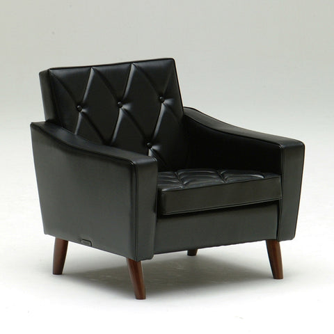 Karimoku60 - lobby chair one seater standard black - Armchair