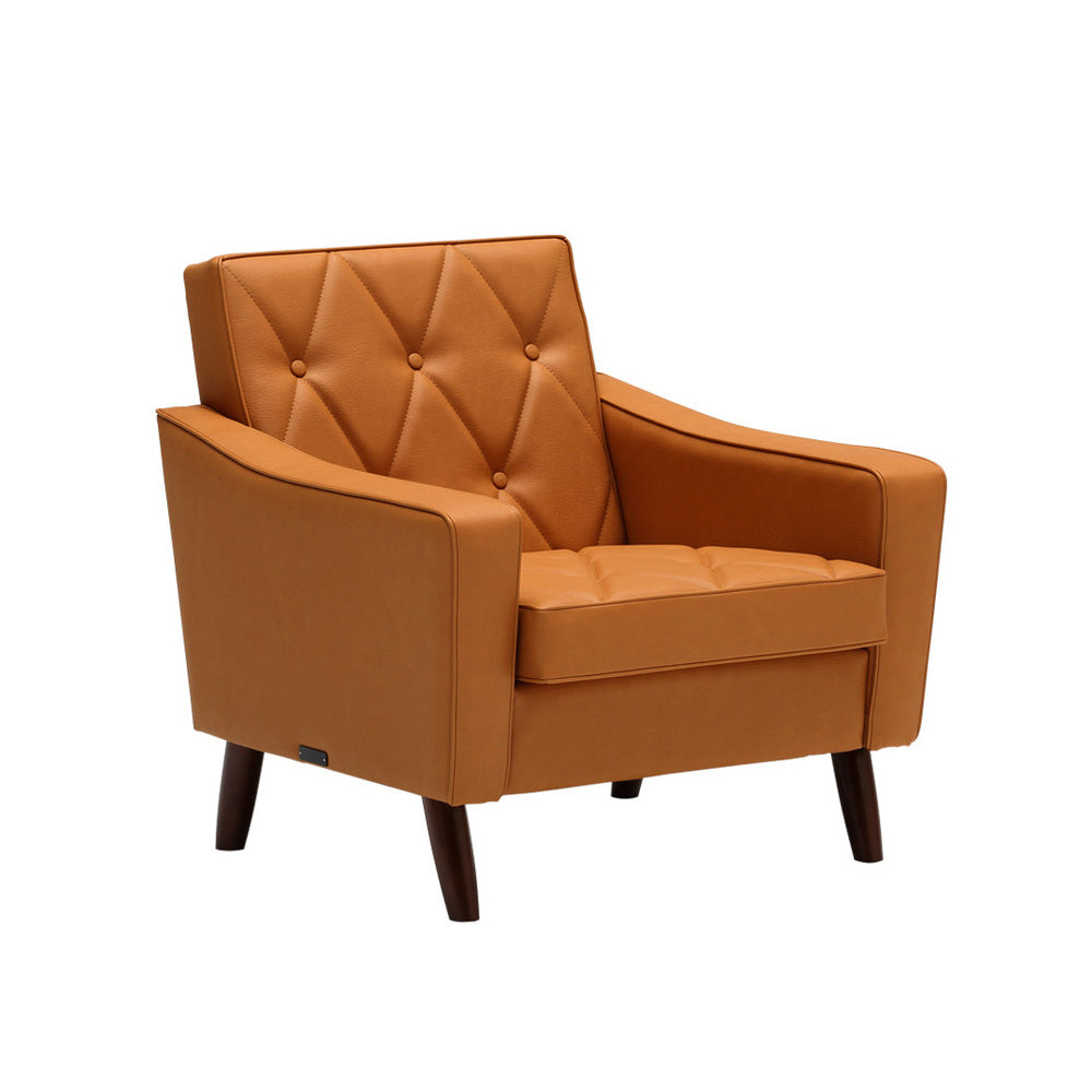 lobby chair one seater liber brown