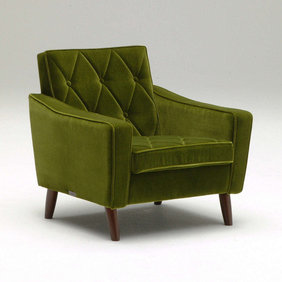 lobby chair one seater moquette green - Armchair - Karimoku60