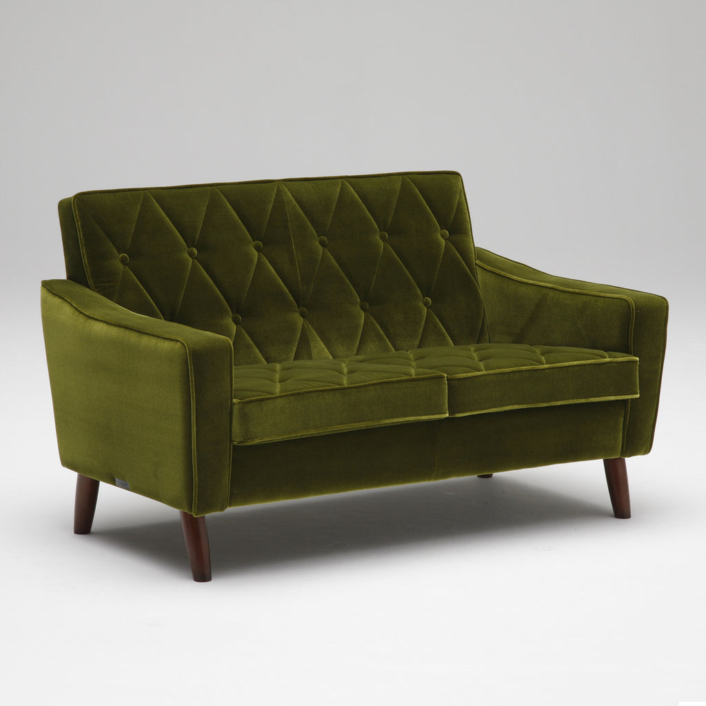 Karimoku60 - lobby chair two seater moquette green - Sofa