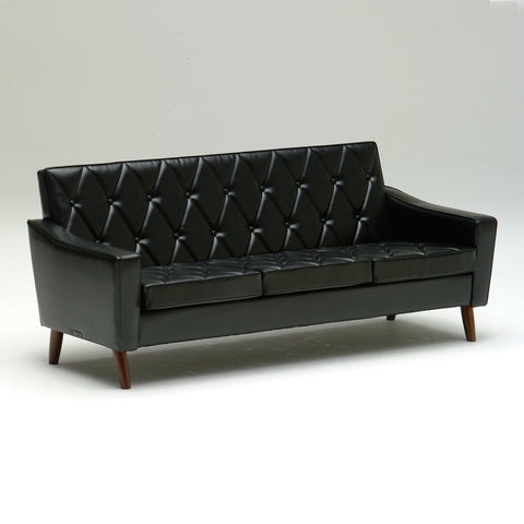 Karimoku60 - lobby chair three seater standard black - Sofa