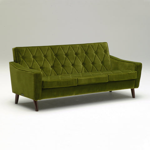 lobby chair three seater moquette green - Sofa - Karimoku60