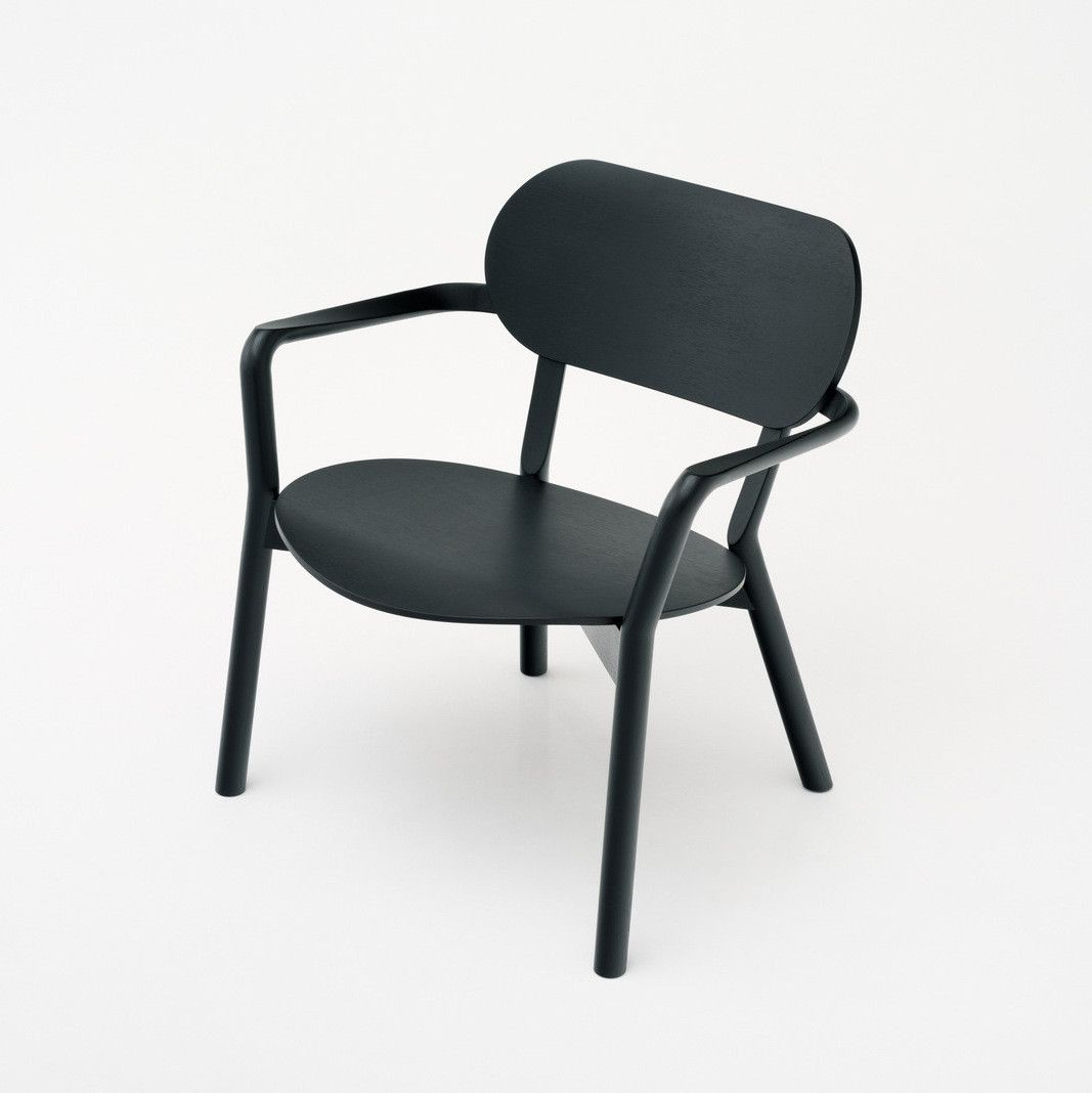 Karimoku New Standard - CASTOR LOW CHAIR black