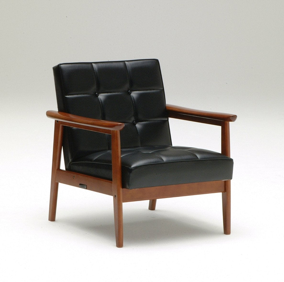 Karimoku60 - k chair one seater standard black - Armchair