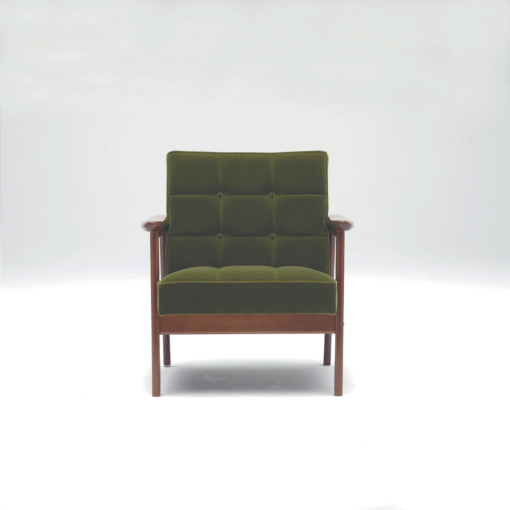 k chair one seater moquette green