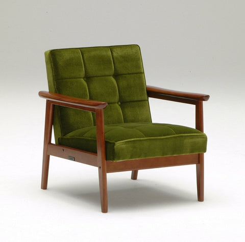 k chair one seater moquette green - Armchair - Karimoku60