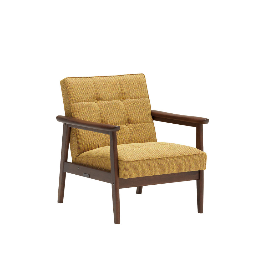k chair one seater mustard yellow