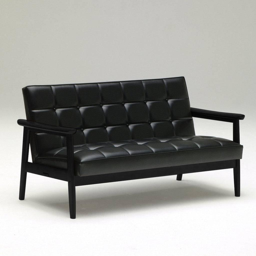 Karimoku60 - k chair two seater matte black - Sofa