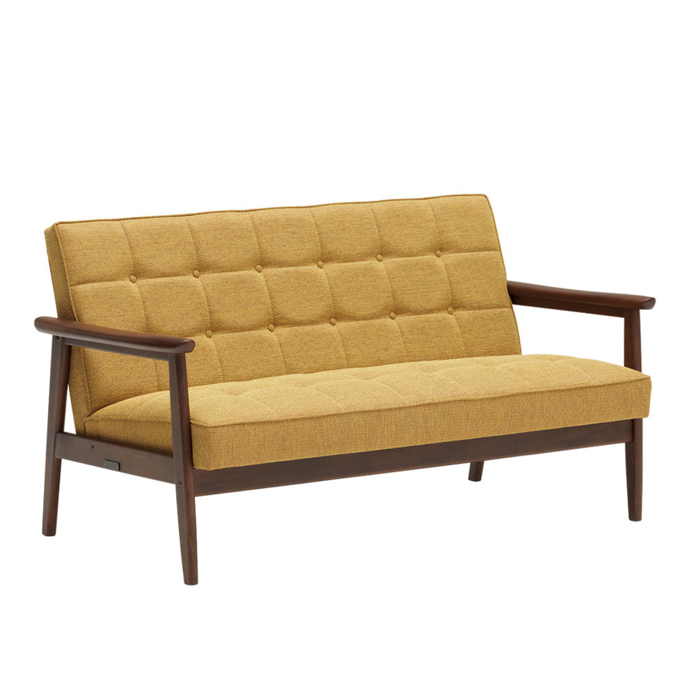 k chair two seater mustard yellow