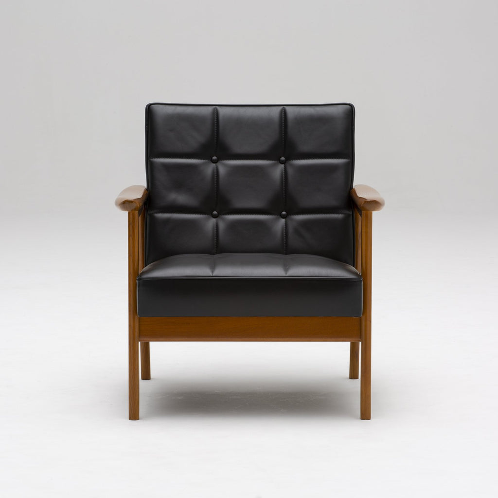k chair one seater leather black