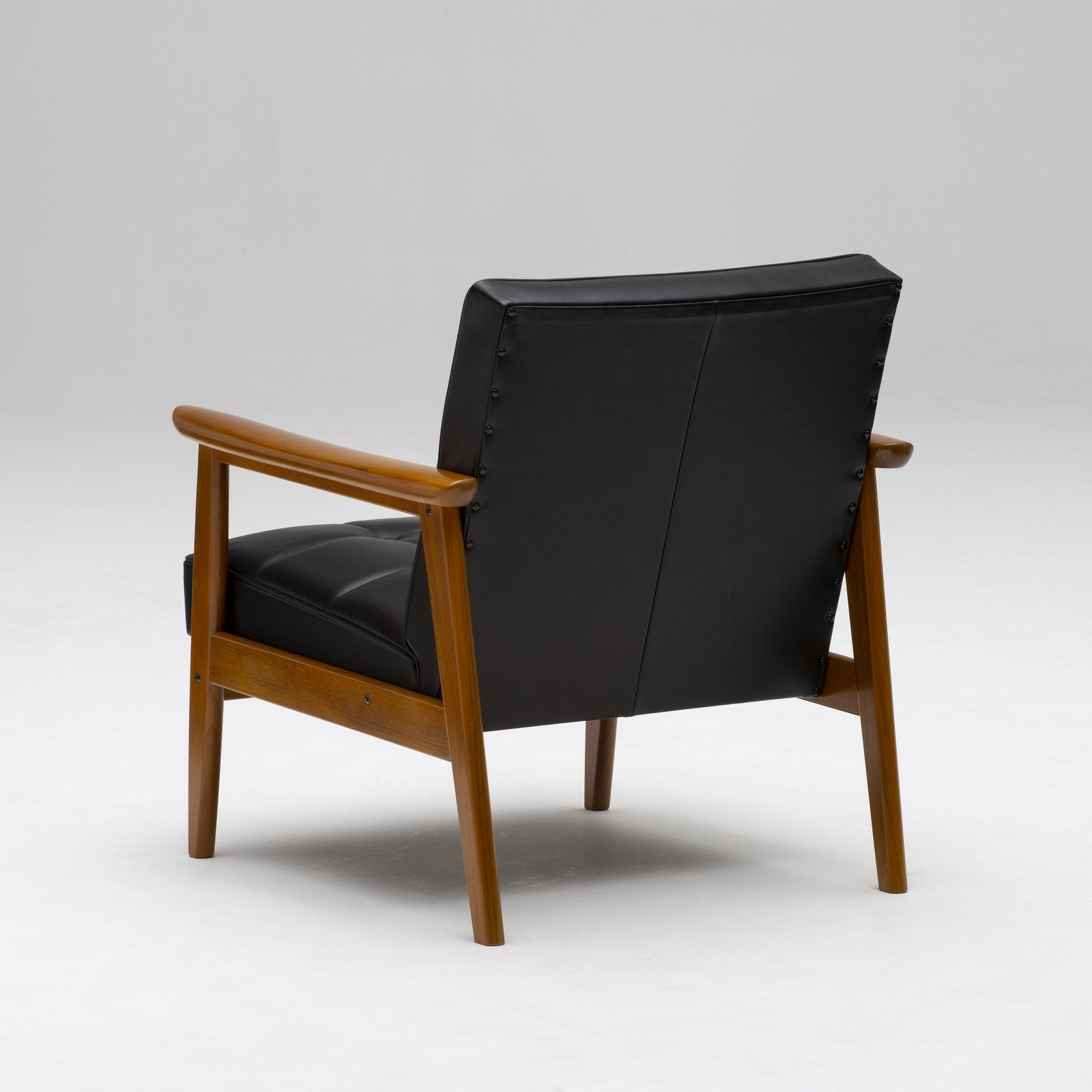 Karimoku60 - k chair one seater leather black - Armchair