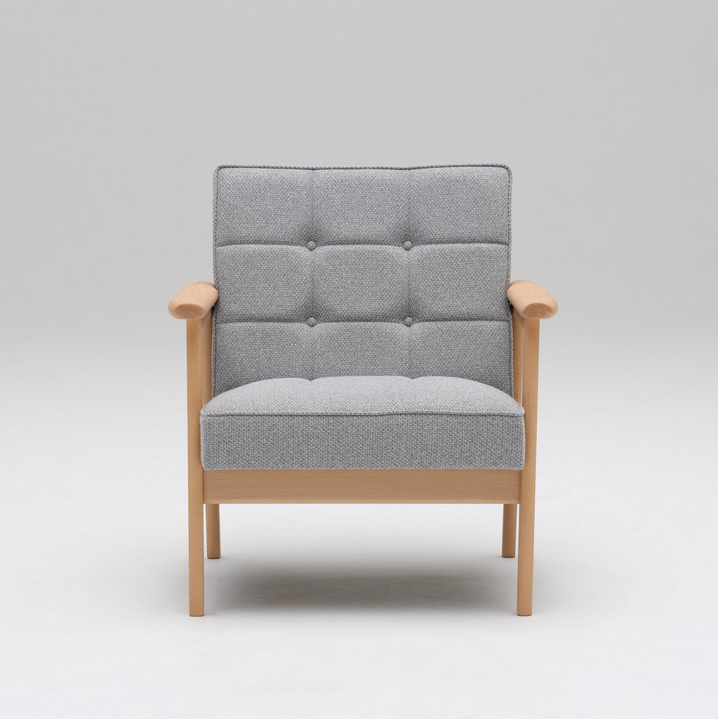 Karimoku60 - k chair one seater mist gray - Armchair
