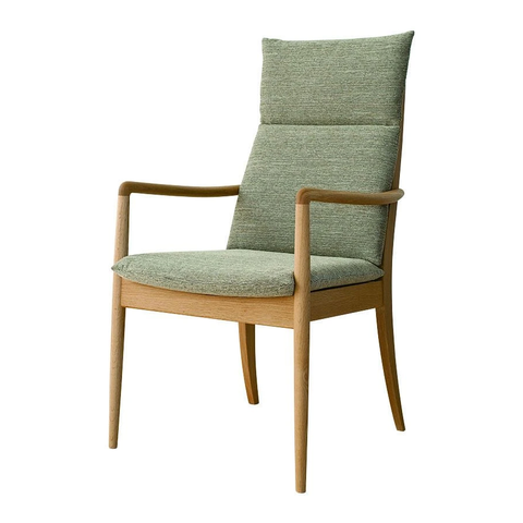 HIDA - VIOLA armchair high Oak - Dining Chair