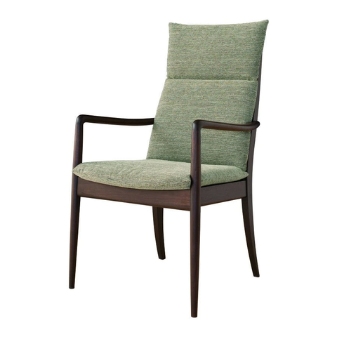 HIDA - VIOLA armchair high Walnut - Dining Chair