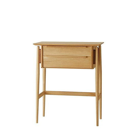 White Wood Console - Cabinet - Nissin